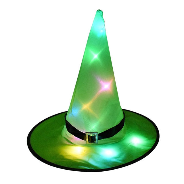 Halloween Decoration Witch Hats LED Lights Cap  Tree Hanging Ornament Home Glow Party Decor
