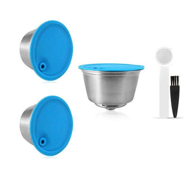 New Refillable Coffee Capsule For Dolce Gusto Reusable Stainless Steel Filter Cup For Nescafe Cofee Machine Crema Maker