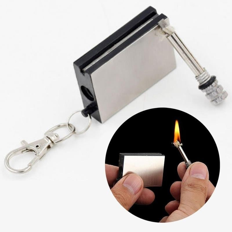 Never Ending Match Permanent Match Waterproof Stainless Steel Shell Camping Outdoor Survive Travel Lighter Never Ending Match