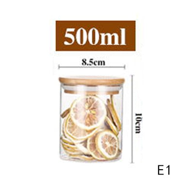 Mason Candy Jar For Spices Glass Transparent Container Glass Jars With Lids Cookie Jar Kitchen Jars And Lids Small Size Wholesal