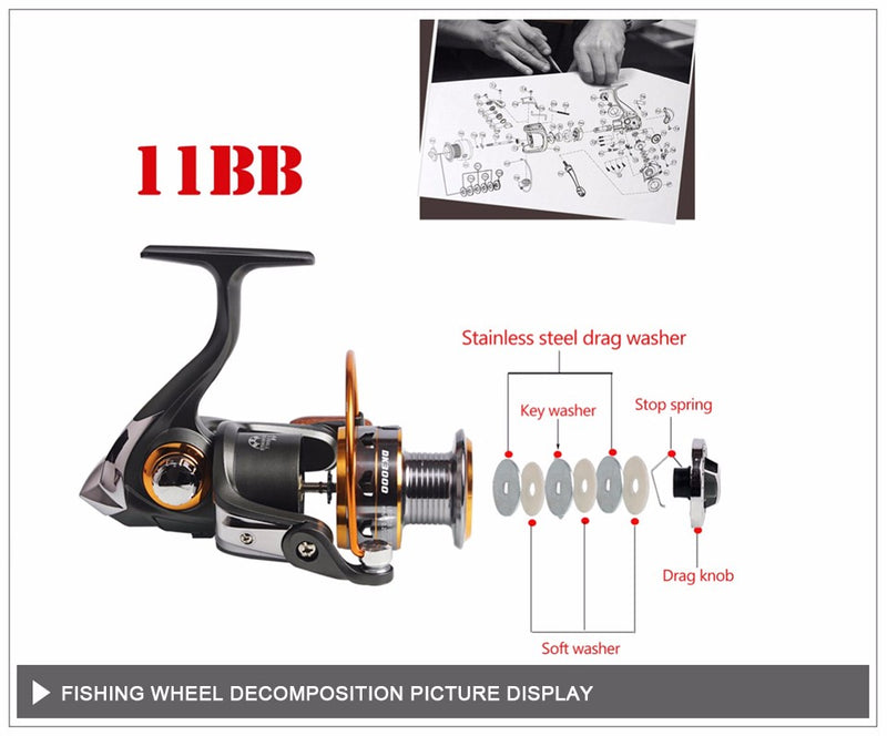 Telescopic Fishing Rod and 11BB Fishing Reel  Rod Combo