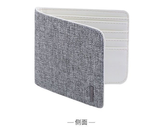 Xiaomi Fashionable men and women short wallet casual Oxford cloth clutch Simple college wallet