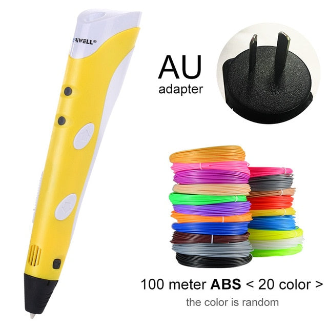 Myriwell 3D Pen Original DIY 3D Printing Pen With 1.75mm ABS Filament Creative Toy Birthday Gift For Kids Design Drawing