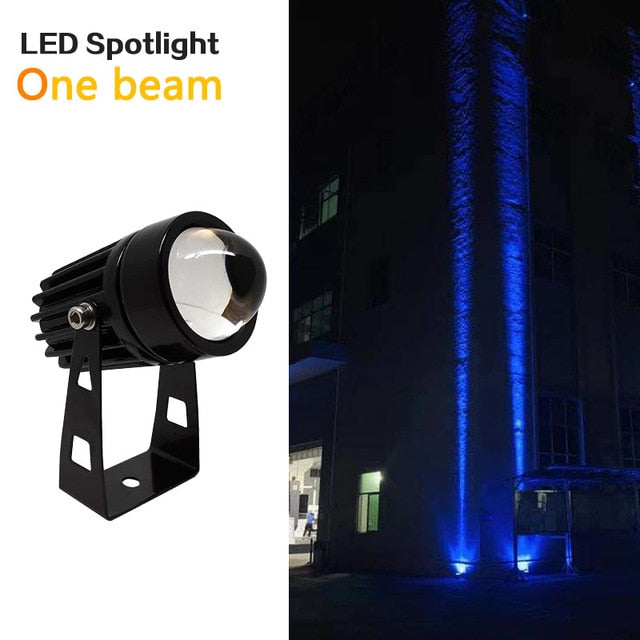 Outdoor LED Wall spotlight 9W 12W landscape Lighting 220V Red Green Blue RGB Wall light IP66 Waterproof one beam lights