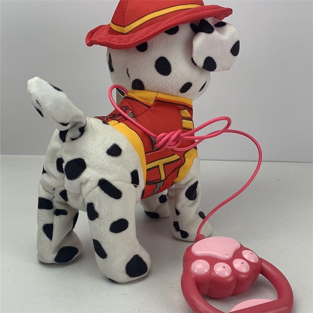 1pcs New Electric Walking Dog Plush Toy Stuffed Animal Handle Control Electronic Music Puppy Toys for Children Christmas Gifts