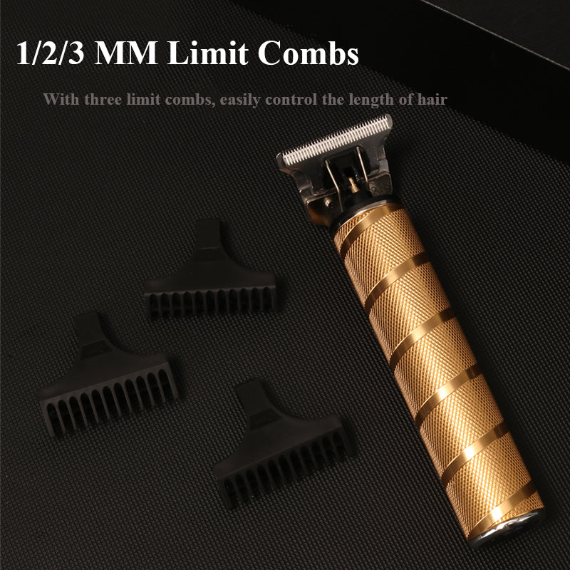 Hot Pro Li T-Outliner Barber Shop Electric Professional Cordless Hair Trimmer Men 0mm Baldheaded Hair Clipper Hair Cutting Machine Casecust