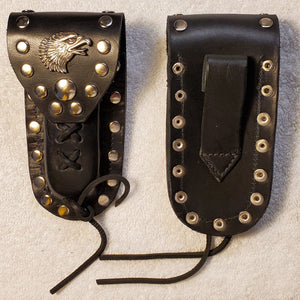 Buck 110 Leather Knife Case - Soaring Eagle Head