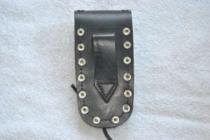 Leather Knife Case - Motorcycle Engine