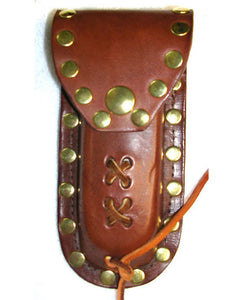 Leather Knife Case - Light Brown