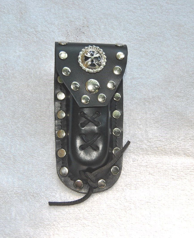 Leather Knife Case - Celtic Cross