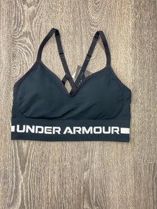 Women's UA Seamless Low Long Black Sports Bra