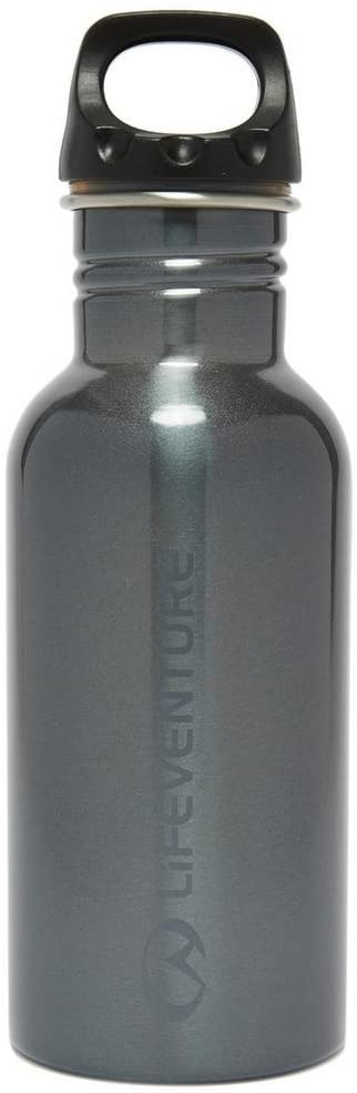 LIFEVENTURE STAINLESS STEEL BOTTLE 600ML GRAPHITE