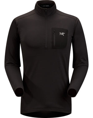 ARCTERYX RHO LT ZIP MEN'S TOP Black