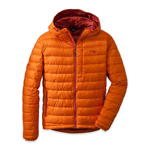 OUTDOOR RESEARCH TRANSCENDENT MEN'S DOWN HOODY ORANGE