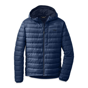 OUTDOOR RESEARCH TRANSCENDENT MEN'S DOWN HOODY NAVY