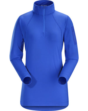 ARCTERYX RHO LT ZIP WOMEN'S TOP Blue