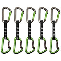 DMM AERO 12CM QUICKDRAW 5 PACK SILVER/LIME