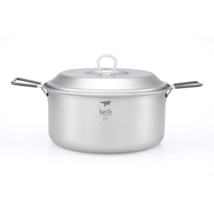KEITH 2 Piece Titanium Pot and Pan Cook Set 2500ml