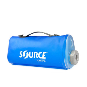 SOURCE NOMADIC 2L Foldable Bottle Blue