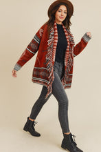 Load image into Gallery viewer, Fringe Detail Knit Retro Cardigan