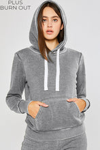 Load image into Gallery viewer, Multiple Colors - Plus Basic Burn Out Pullover Hoodie