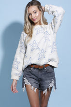 Load image into Gallery viewer, Denim Star Knit Sweater