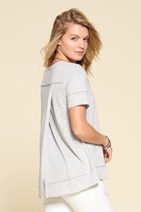 Linda Grey Crossover Tee