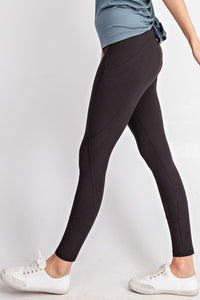 Full Length Wide Waistband Yoga Leggings w/ side pocket