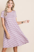 Load image into Gallery viewer, Relaxed Fit Stripe Dress