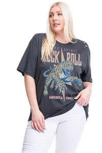 Plus Size Rock & Roll Tee