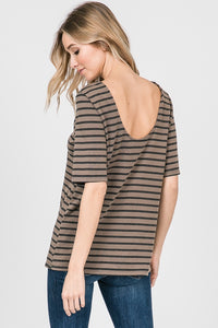 Stripped Top w/ Scoop Back