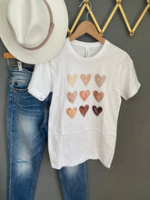 Load image into Gallery viewer, Watercolor Nine heart Graphic Tee