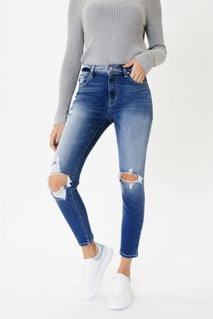 High rise distressed Jeans - KanCan