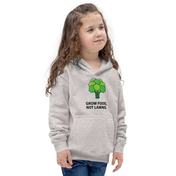 Grow Food, Not Lawns Light Kids Hoodie - Earth Rebirth