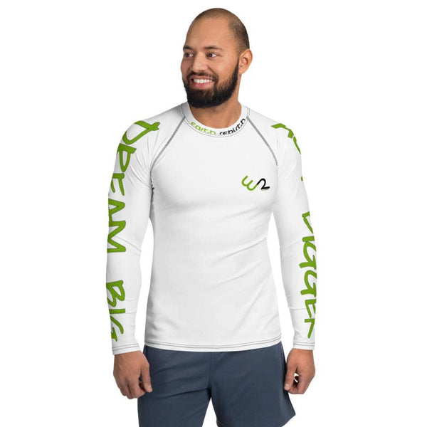 Dream Big, Act Bigger: Men's Rash Guard - Earth Rebirth