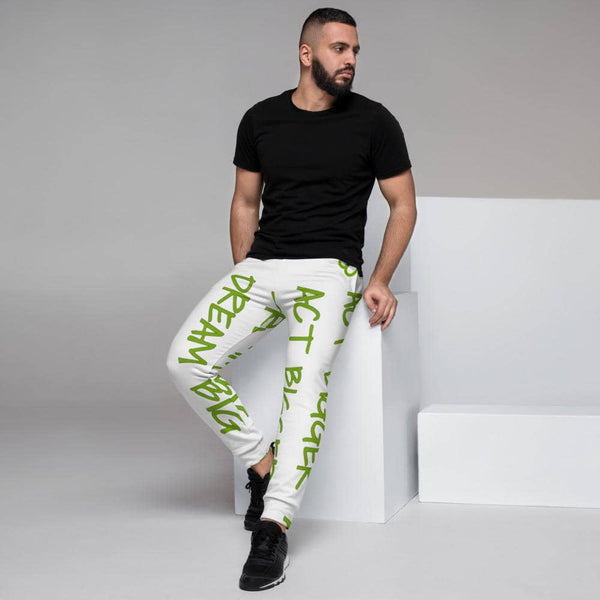 Men's Joggers w/ All-Over Print: Dream Big, Act Bigger - Earth Rebirth