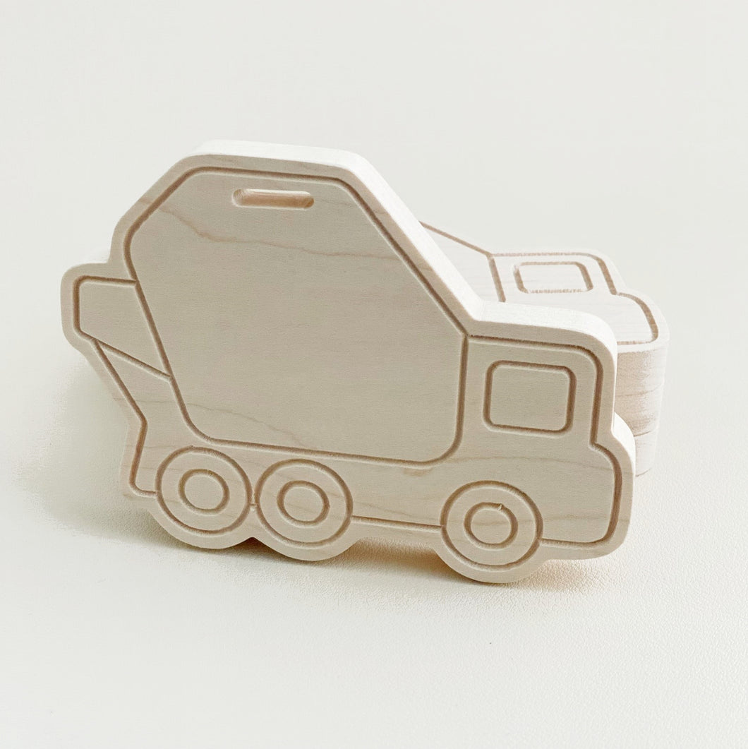 Wooden Cement Truck Teether