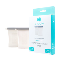 Load image into Gallery viewer, Bundled Reusable Breastmilk Storage Bags Grey