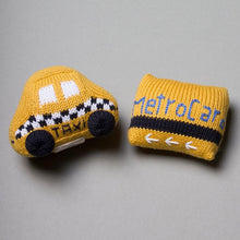 Load image into Gallery viewer, Organic Taxi & MetroCard Rattle Set
