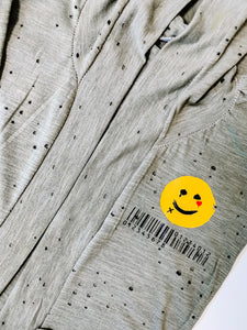 Smiley Distressed Cardigan