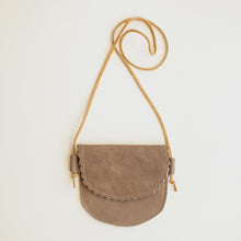 Load image into Gallery viewer, Scalloped Leather Bag Taupe