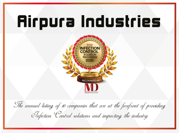 Airpura Industry Infection Control Solution Certificate