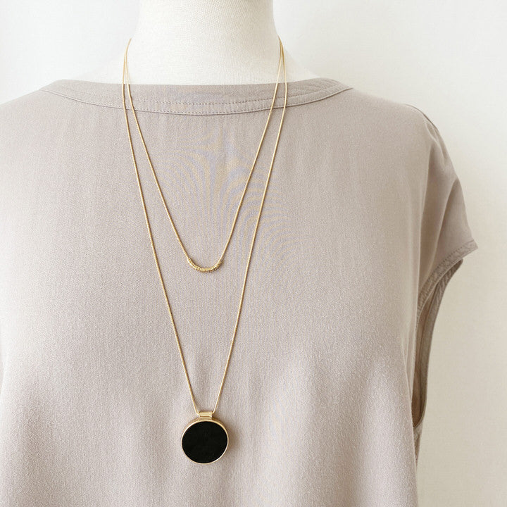 COLLIER.NECKLACE 1408-BLK-G