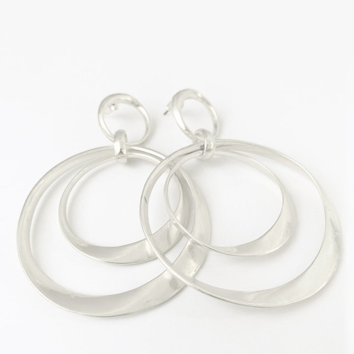 BOUCLES D'OREILLES.EARRINGS 2445-SLV