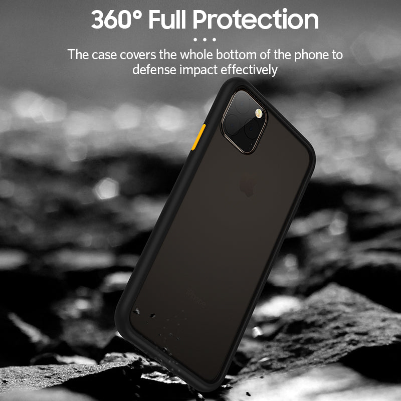 Skin-touch Matte Hard PC Shock-Proof case for iPhone 12