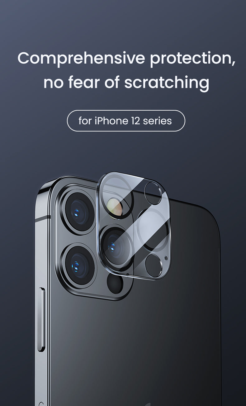 Integrated Transparent Camera Lens Protector for iPhone 12