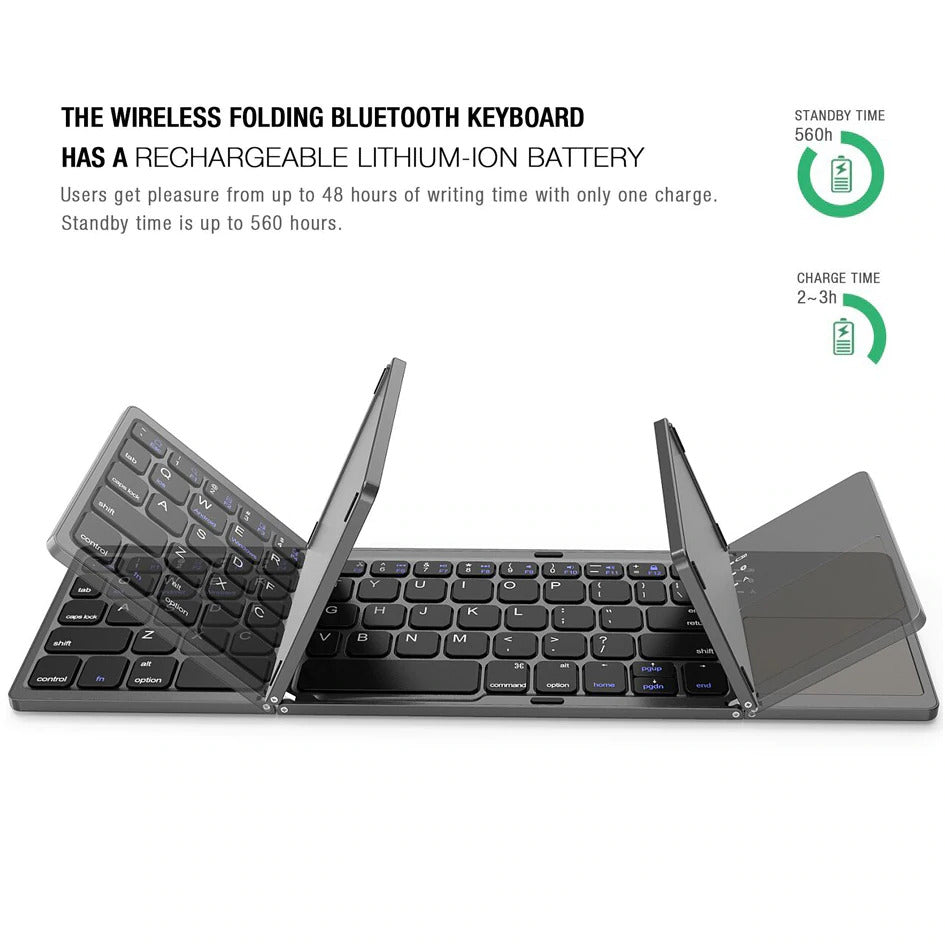 Wireless Bluetooth Foldable Keyboard | Better Bits 'n' Bobs