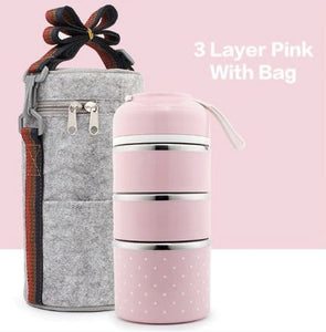 3 Layers Portable Leak-Proof Stainless Steel Food Container Bento Box | Better Bits 'n' Bobs