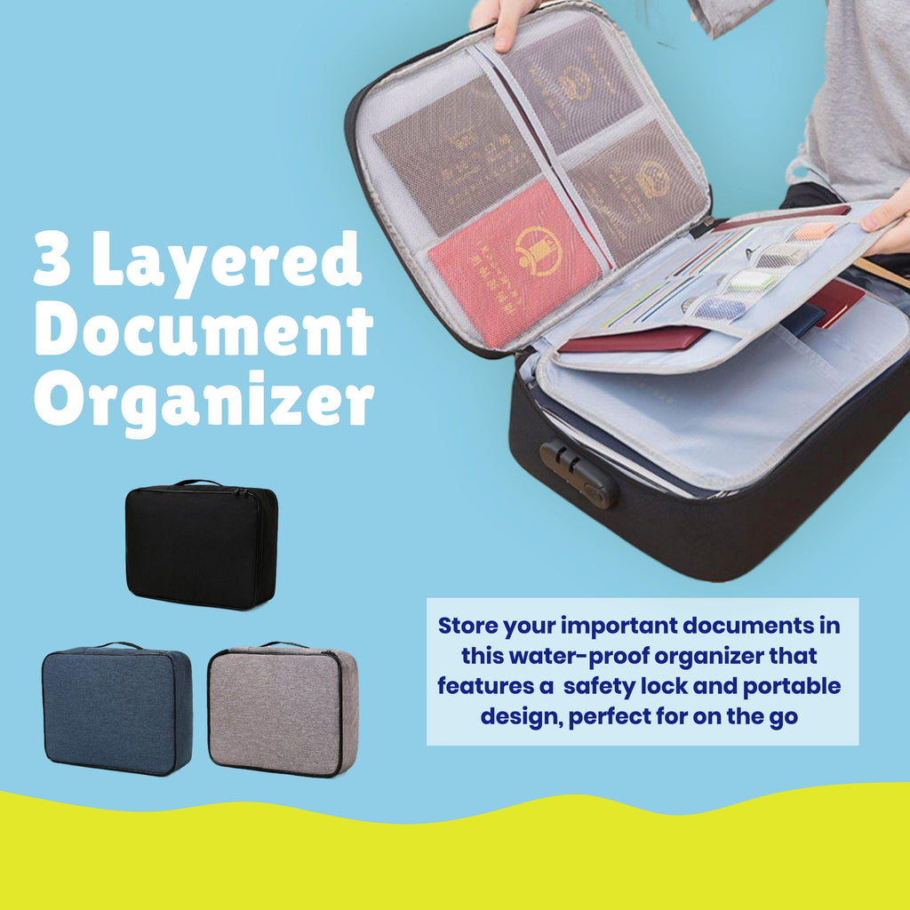 3 Layers Document Organizer For Home Travel Use | Better Bits 'n' Bobs
