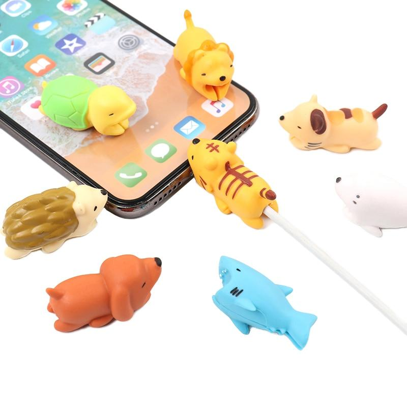 Cute Animal USB Cable Protector 8 PC Set | Better Bits 'n' Bobs